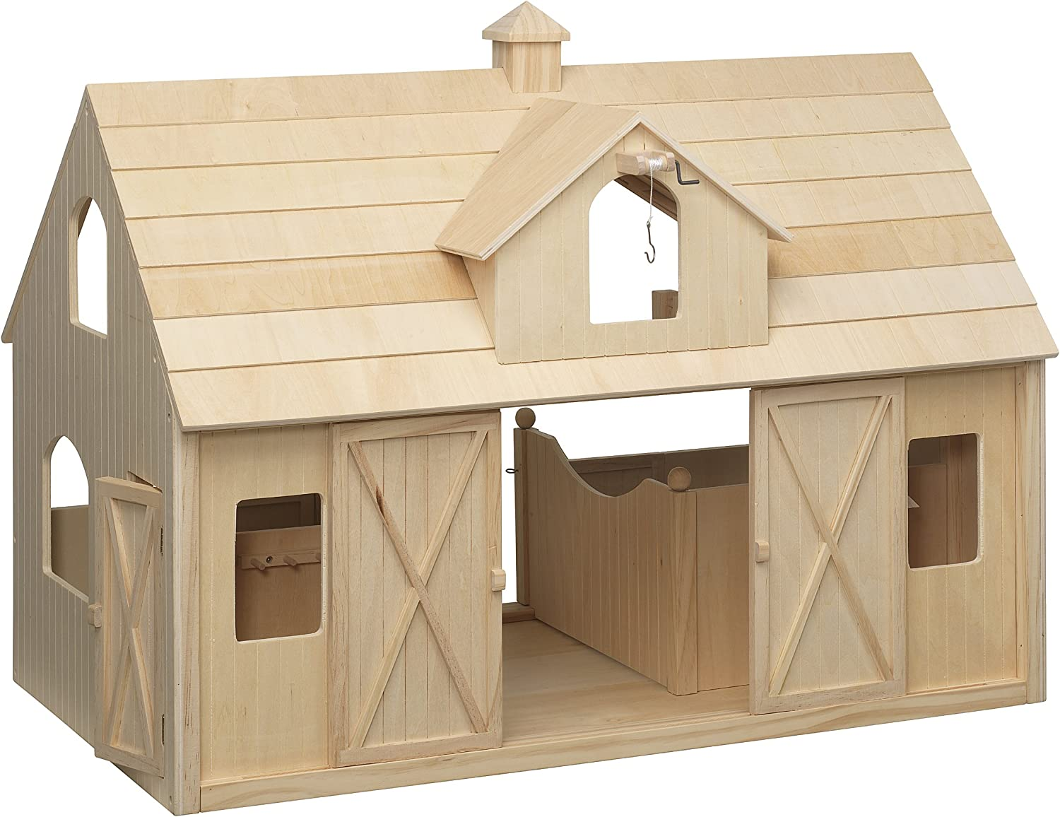B000MUYXMY Breyer Traditional Deluxe Wood Horse Barn with Cupola Toy Model 81QPGQlMByL.SL1500_
