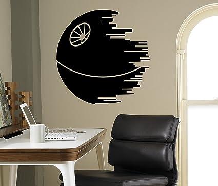 Death Star Wall Decal Wall Star Wars Vinyl Sticker Home Decor Ideas ...