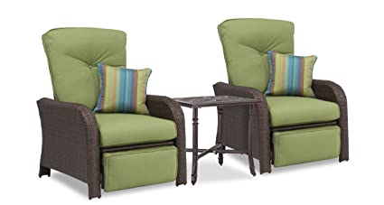Amazon.com: Sawyer Patio Reclinable Set: Incluye 2 sillones ...