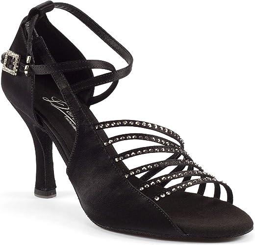 womens Dance Shoes Heel 7.5cm Leather Latin Jazz Chacha Ballroom Salsa Tango