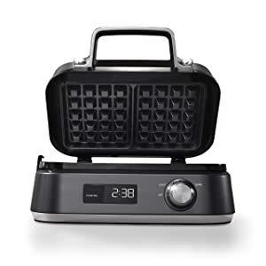 Calphalon Intellicrisp Waffle Maker, Dark Stainless Steel