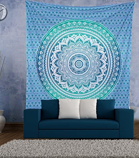 Dorm Decor Indian Wall Hanging Hippie Mandala Tapestry Boho Bedspread Ethnic