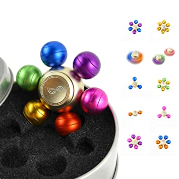 Tornado Fidget Spinner - Dragon Ball Spinner - Colourful Metal UFO Table  Spinner - Xmas Bauble - Stress Relief Spinner for Adults and Children