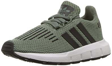 official photos e33ce a04ce adidas Originals Boys Swift I Running Shoe Trace GreenBlackWhite 4 Medium