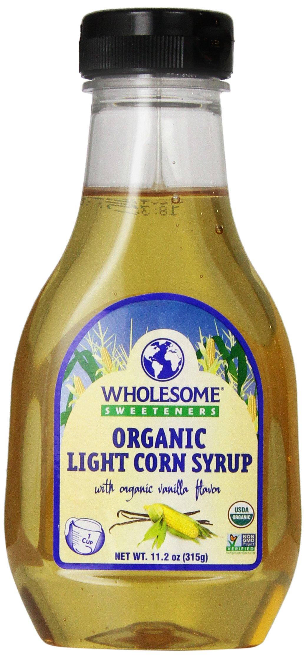 WholesWholesome Sweeteners Organic Light Corn Syrup, 11.2 oz. (Pack of 3)