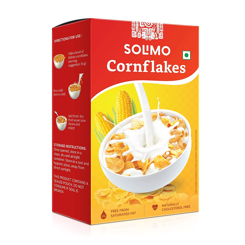 Amazon Brand - Solimo Corn Flakes, 500g