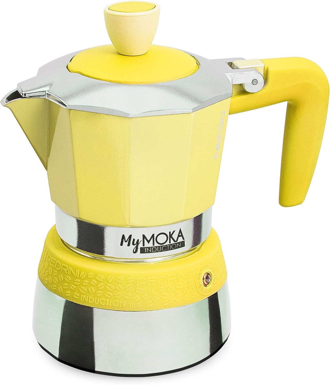 Pedrini MyMoka - Cafetera de inducción Inducción Mymoka 3 Tazze ...