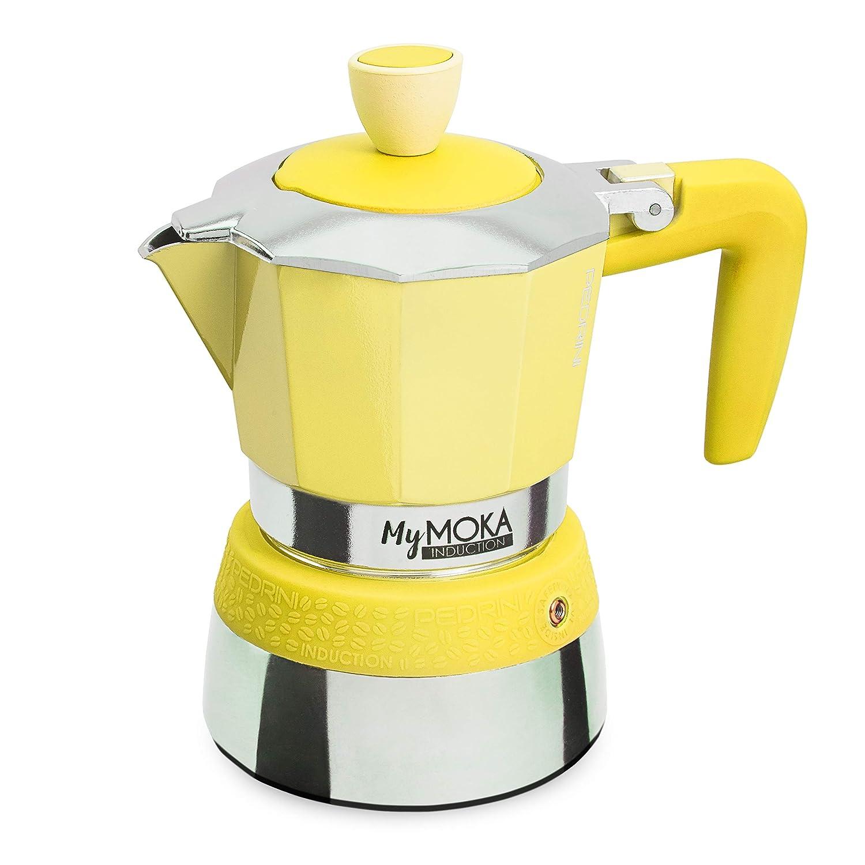 Pedrini Cafetera mymoka Induction, 3 tazas, Sunshine: Amazon.es: Hogar