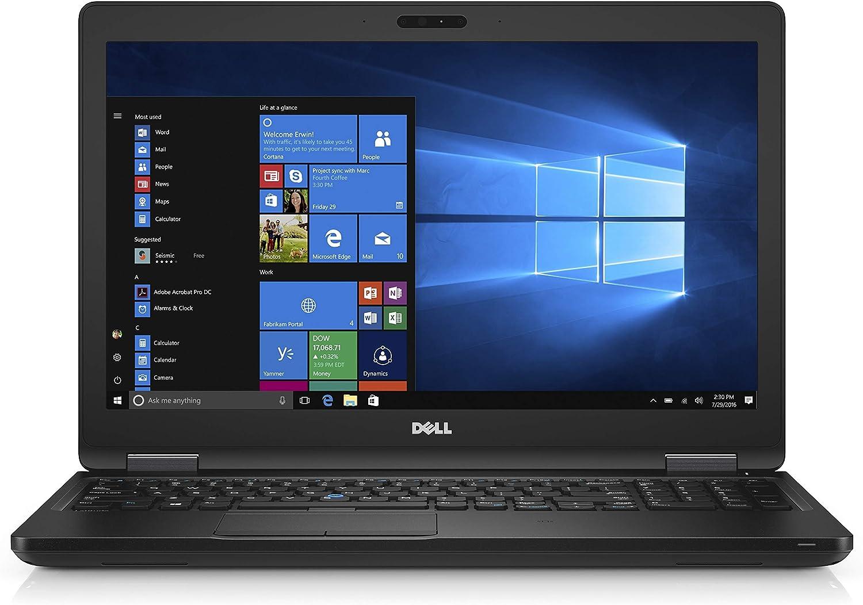 Dell Latitude E5580 15.6in Laptop, Core i7-7600U 2.8GHz, 16GB Ram, 256GB SSD, Webcam, Windows 10 Pro 64bit (Renewed)