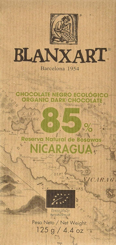 Blanxart Tableta de Chocolate Negro Ecológico - Nicaragua 85% Cacao 1 Unidad 125 g