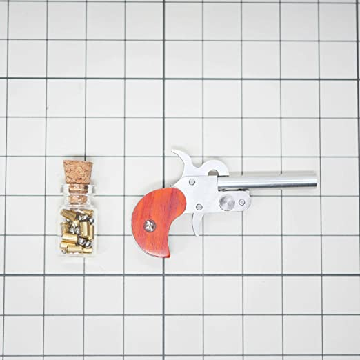 Buy Woobud Mini Single Tube Miniature Derringer 2Mm Pinfire Model With Bullet Shell For Collection Online at Low Prices in India - Amazon.in