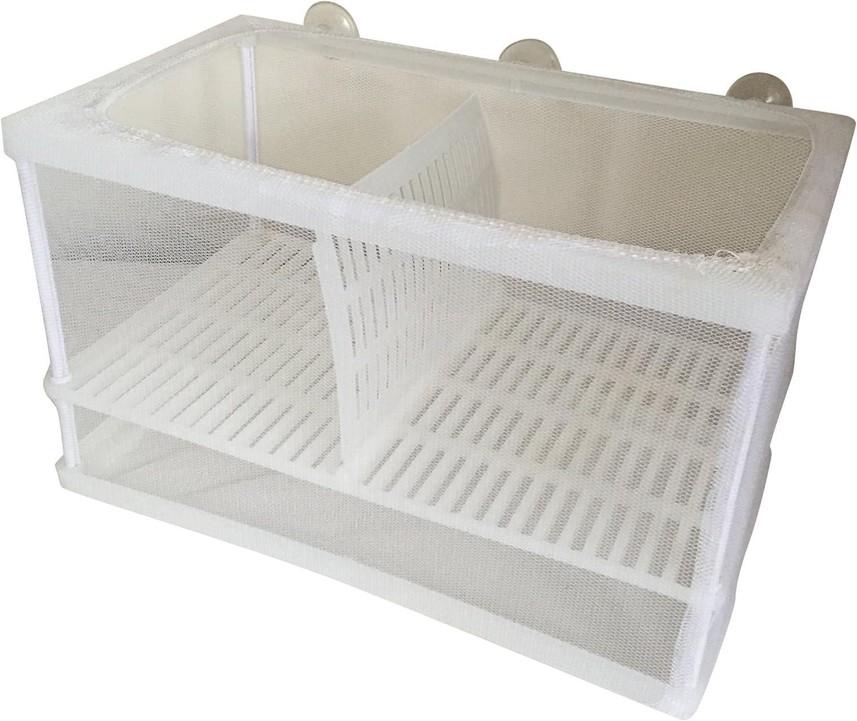 Finest-Filters Dual Aquarium Net Breeder Hatchery Isolation Chamber for Fish Tank