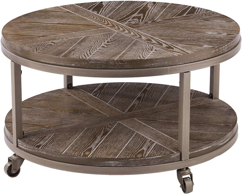 - Amazon.com: SEI Furniture Konya Urban Industrial Round, Coffee