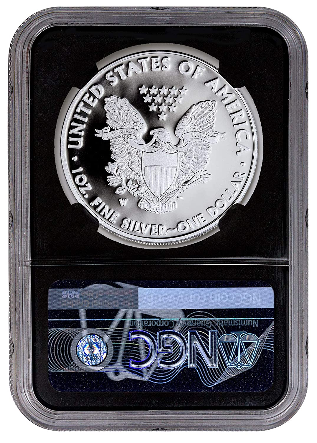 2019 W 1oz Silver Eagle Proof NGC PF70 UC Eagle Core First Day Issue