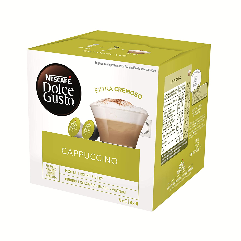 Nescafe Dolce Gusto Cappuccino 16 Cápsulas 3 53 Oz Grocery Gourmet Food