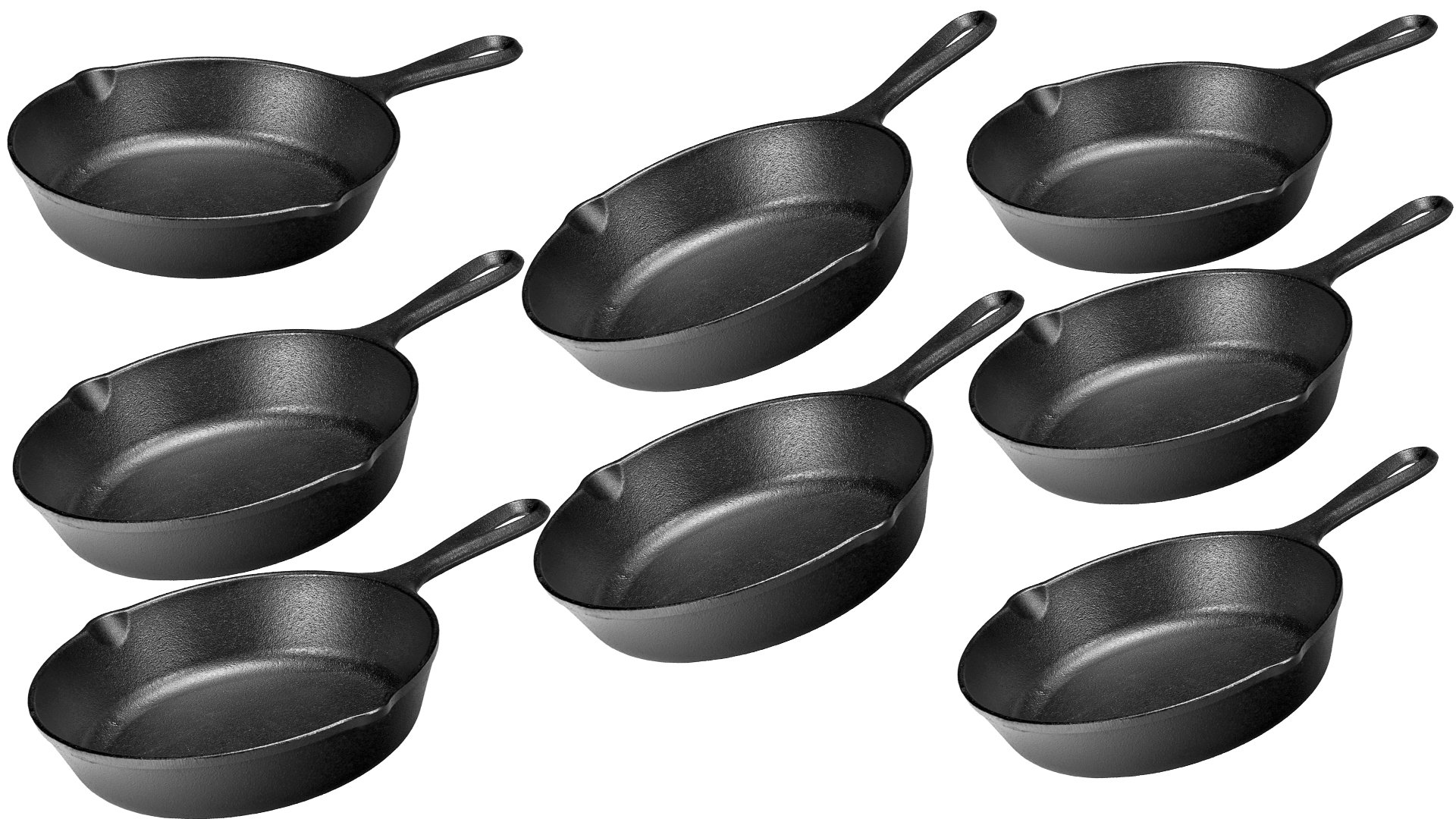 Lodge LMS3 Miniature Skillet,Black 3.5-inch - Pack of 8