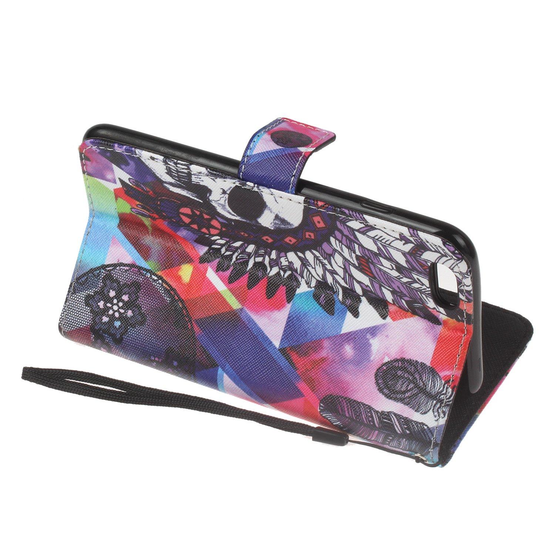 porte-clés Etui pour Sony Xperia XA PU Cuir Flip Magnétique Portefeuille Etui Housse Coque en Cuir Portefeuille Housse de Case pour Sony Xperia XA 6 Coque pour Sony Xperia XA W Lohpe