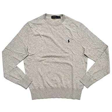 Polo Ralph Lauren Men\u0027s Cashmire Cotton Blend Pulover Crewneck Sweater,  BLACK at Amazon Men\u0027s Clothing store: