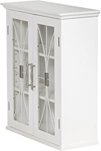 Elegant Home Fashions Delaney 2-Door Wall Cabinet in White