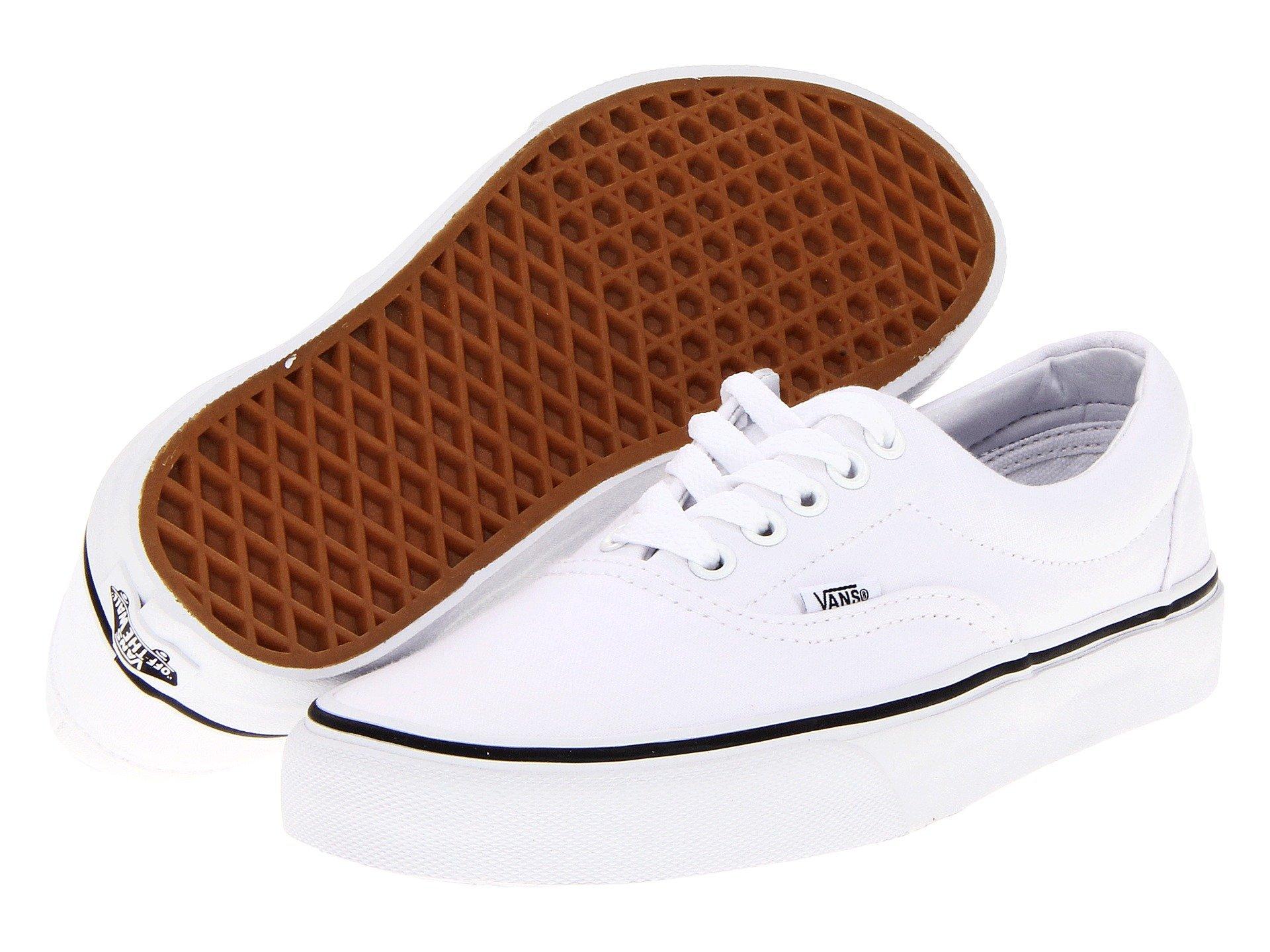 Vans Unisex Era True White Skate Shoe 5 Men US/6.5 Women US