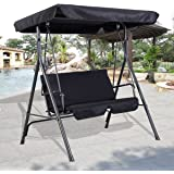 MASCARELLO® GARDEN PATIO METAL SWING CHAIR SEAT 2-3 SEATER HAMMOCK BENCH SWINGING CUSHIONED