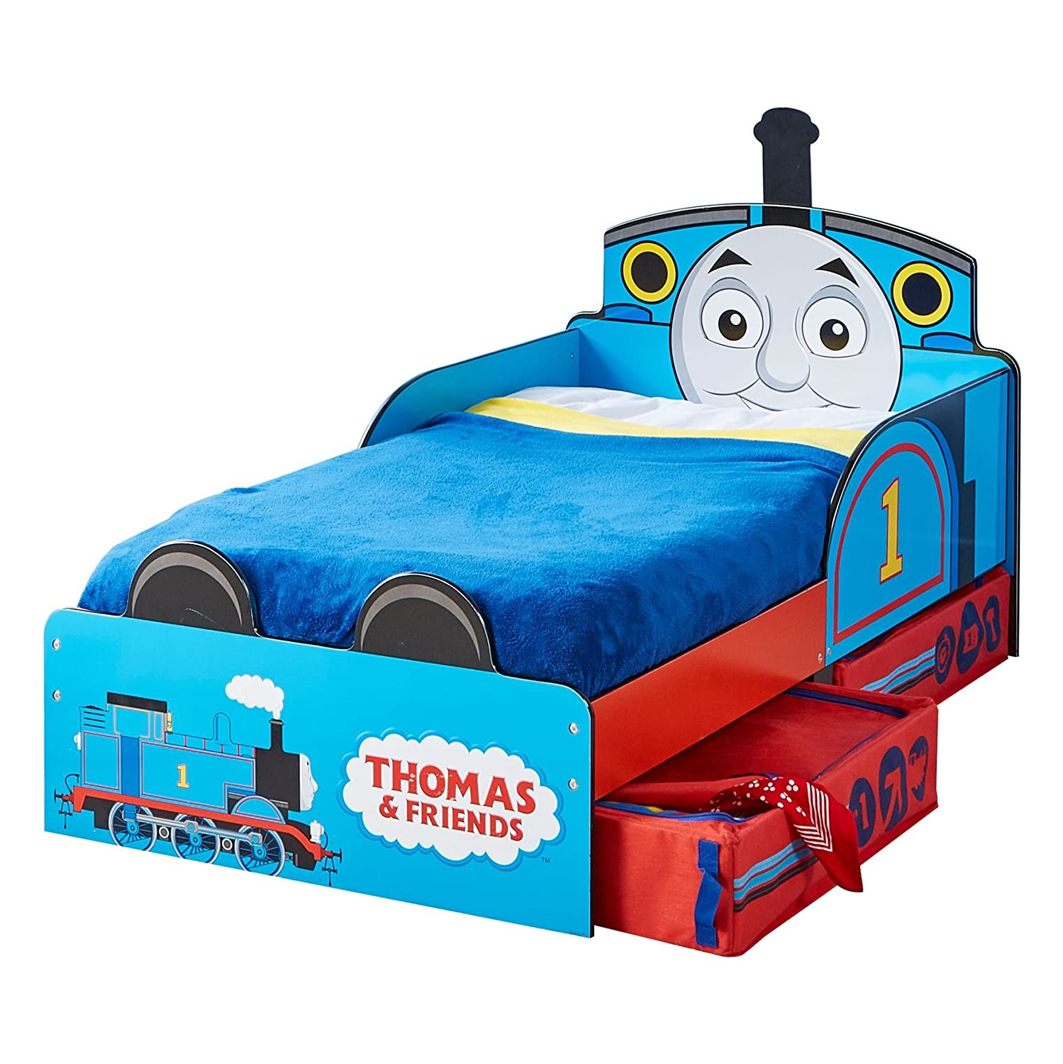 Thomas the Tank Engine Kids Toddler Bed with Underbed Storage by ...
