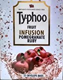 Typhoo FRUIT INFUSION- POMEGRANATE RUBY - 25 TEA BAGS