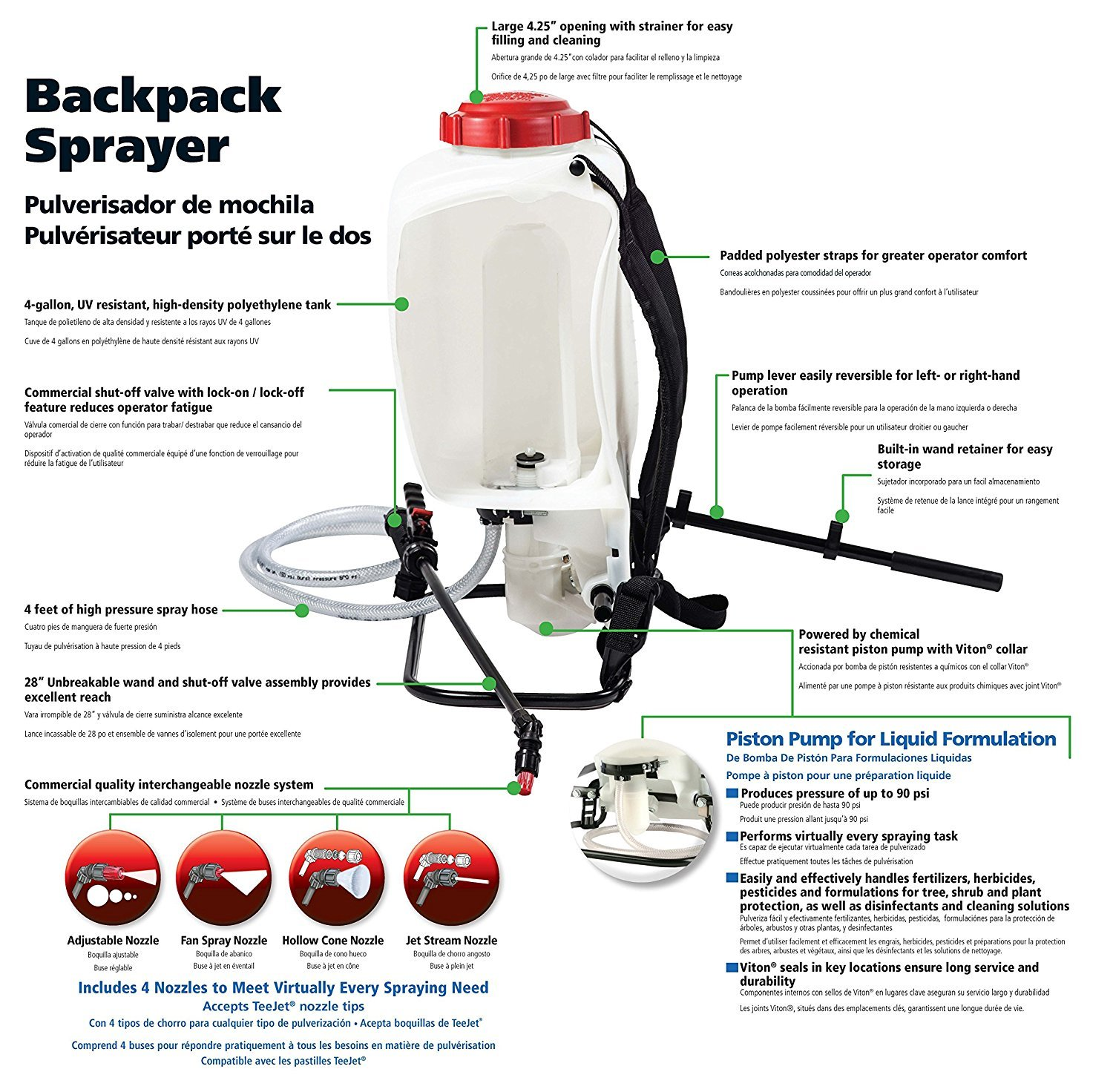 Amazon.com : Solo 425 4-Gallon Professional Piston Backpack Sprayer (Pack of 2) : Garden & Outdoor