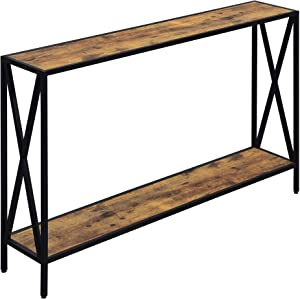 Convenience Concepts Tucson Console Table, Barnwood / Black