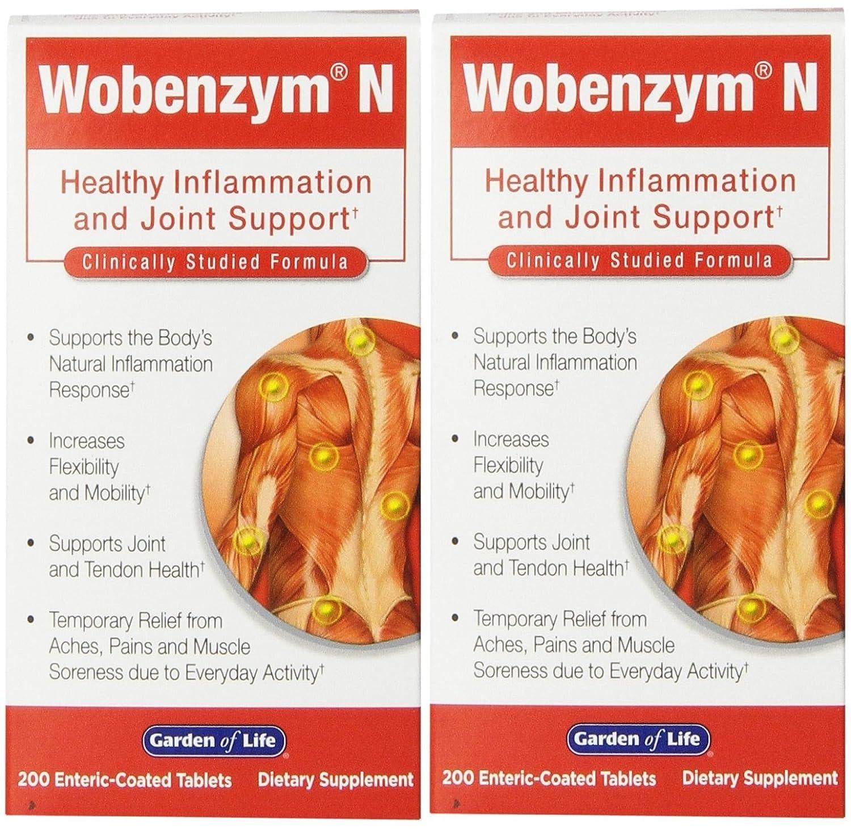 Amazon.com: Jardín de vida Wobenzym N, 200 Tablets (2 ...
