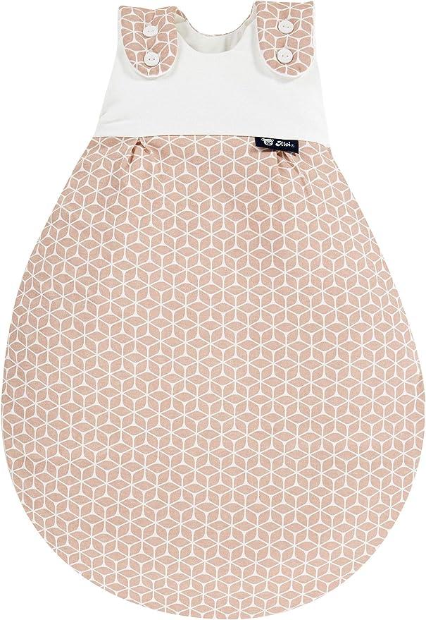 Alvi Baby Schlupfm/äxchen light Exclusiv Schlafsack 0-6 Monate Baby-Schlafsack 100/% Baumwolle Design:Raute rosa dunkel Sommerschlafsack waschbar