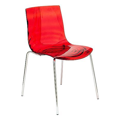 Amazon.com: leisuremod Astor moderno silla de comedor en ...
