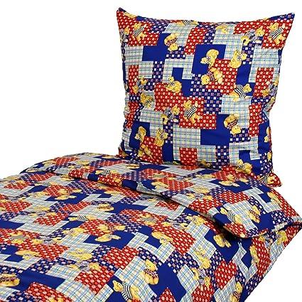 Ropa de cama, 135 x 200 80 x 80 cm, osos Gatos Patchwork ...