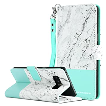 BENTOBEN Funda Samsung Galaxy Note 8, Funda Samsung Note 8 con Libro Multi-Functional PU Cuero Sintético Cartera Billetera Flip Wallet Plegable ...