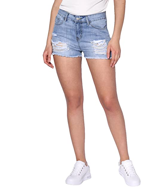 KRISP Pantalones Cortos Vaquero Mujer Verano Adolescente ...