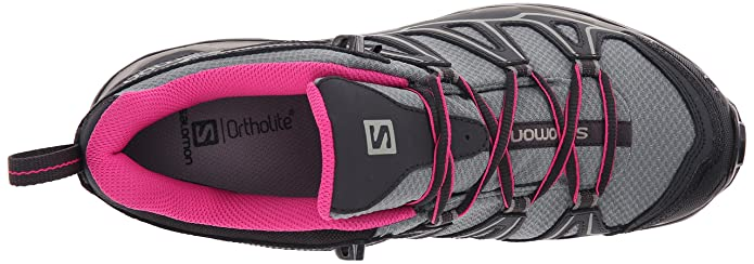 Salomon L37916600, Zapatillas de Senderismo para Mujer, Varios Colores (Light TT/Asphalt/Hot Pink), 38 EU