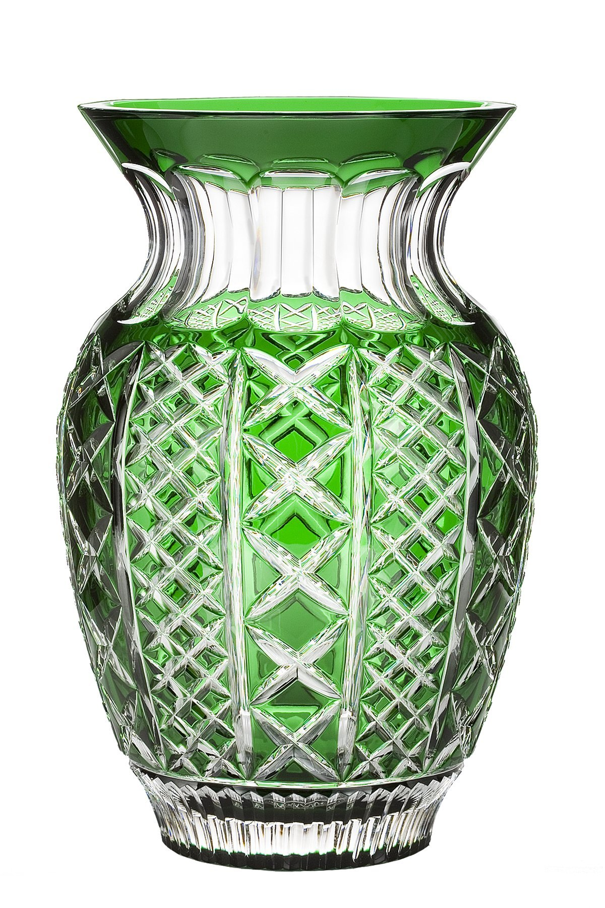 Waterford Fleurology Molly 12-Inch Emerald Cased Bouquet Vase by Waterford