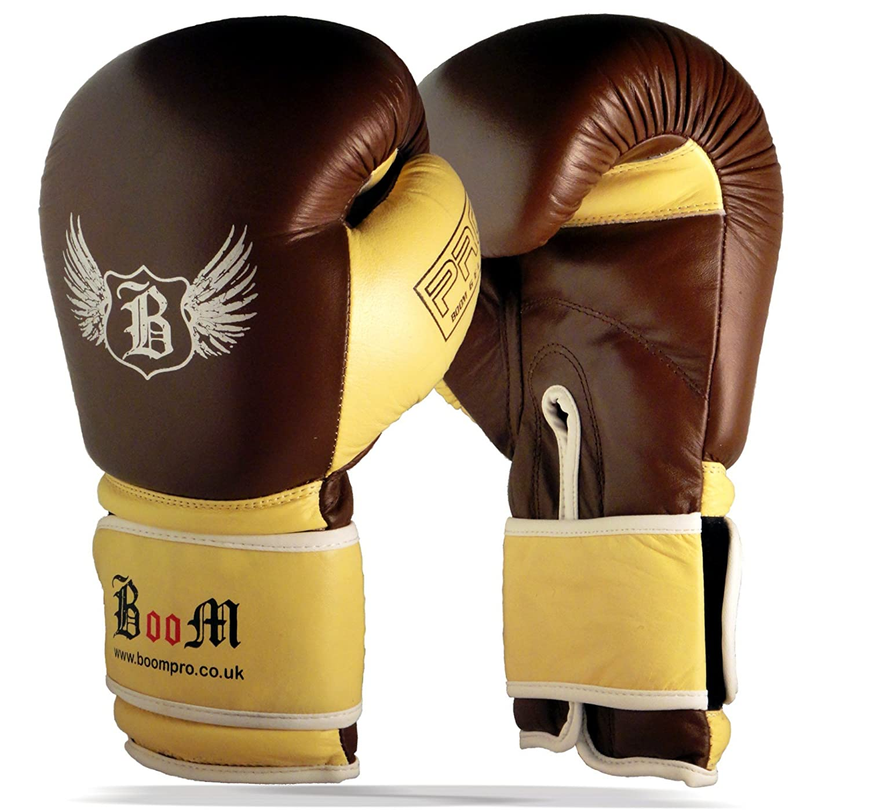 Boom aus reinem Leder Boxhandschuhe MMA Boxsack Sparring (Kostenloser UK Versand) BOOM Pro