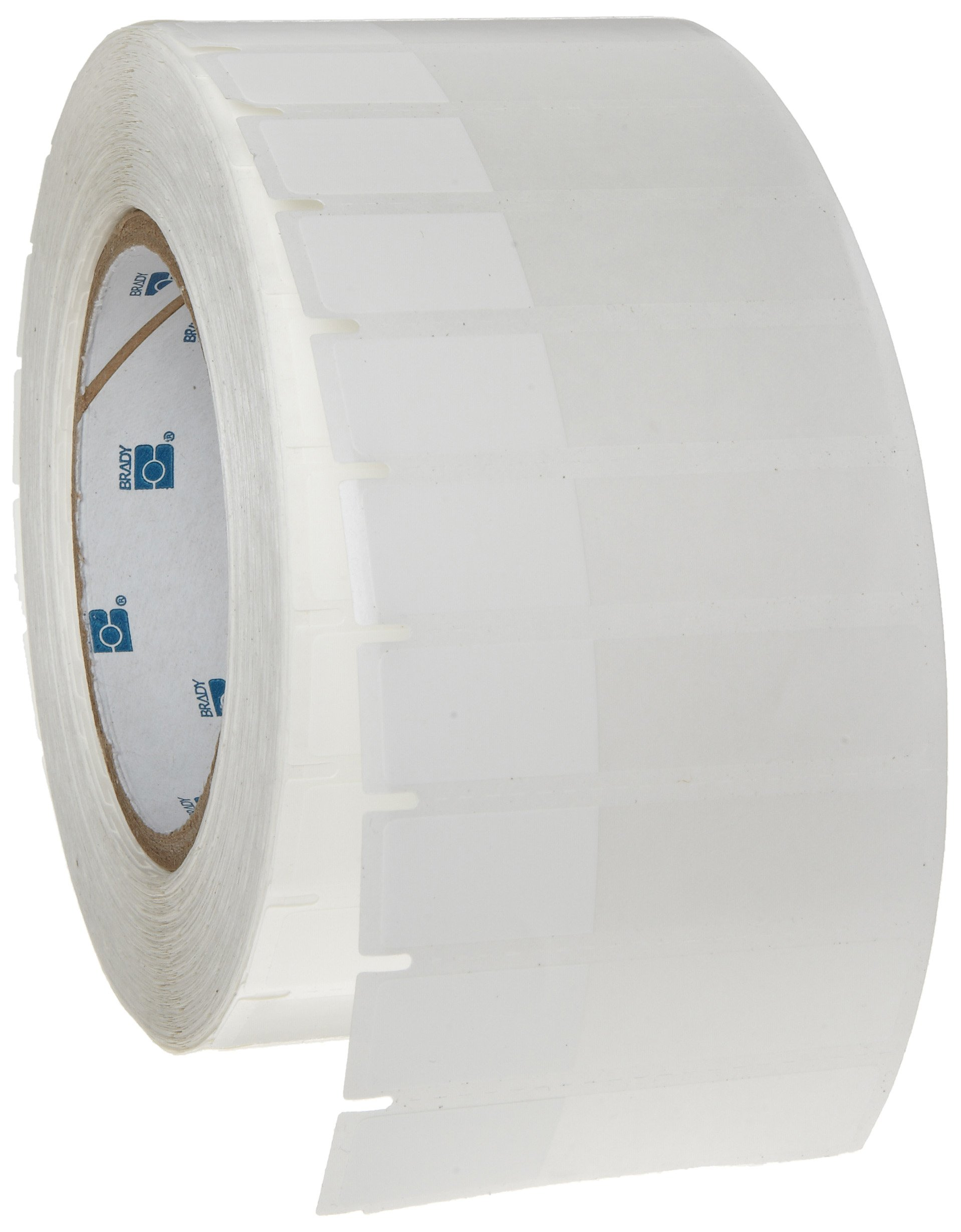 Brady THT-153-461-3 2.625'' Width x 0.6'' Height, B-461 Self-Laminating Polyester, Matte Finish White/Translucent Thermal Transfer Printable Label (3000 per Roll)