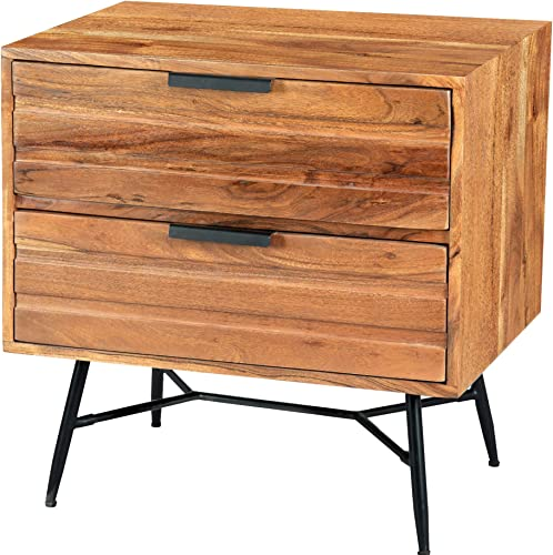 Tup The Urban Port 195128 Two Drawer Wooden Nightstand