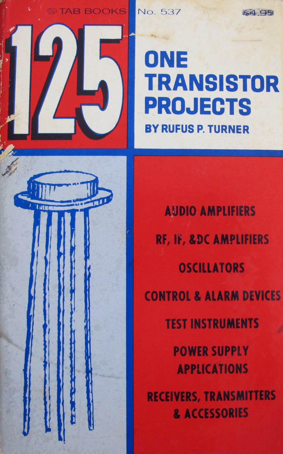 125 One Transistor Projects Rufus P Turner 9780830695379 Audio Mixer Circuit With Fet 2n3819 Electronic Circuits Books