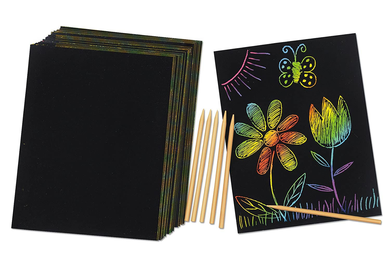 com rainbow colors scratch paper toys games