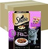 シーバ (Sheba) デュオ 12か月までの子ねこ用 200g(20g×10袋入り)×12個 (ケース販売) [キャットフード・ドライ]
