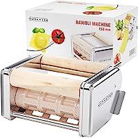 Nuvantee machine à ravioli - 150 mm amovible raviolis emporte-pièces - Fonctionne avec Innovee à pâtes et d'autres marques - Haute Qualité en acier inoxydable ravioli machine