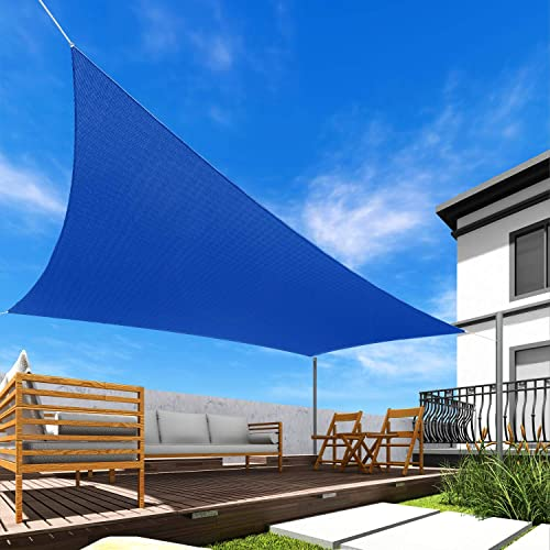 Windscreen4less 18' x 18' Sun Shade Sail UV Block Fabric Canopy