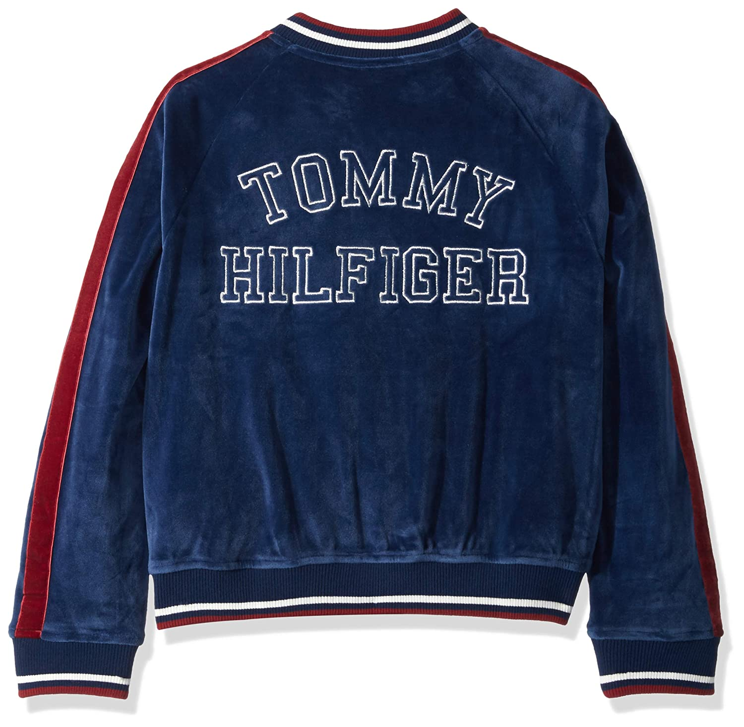 676d57ec076129 Amazon.com: Tommy Hilfiger Girls' Velour Track Jacket: Clothing