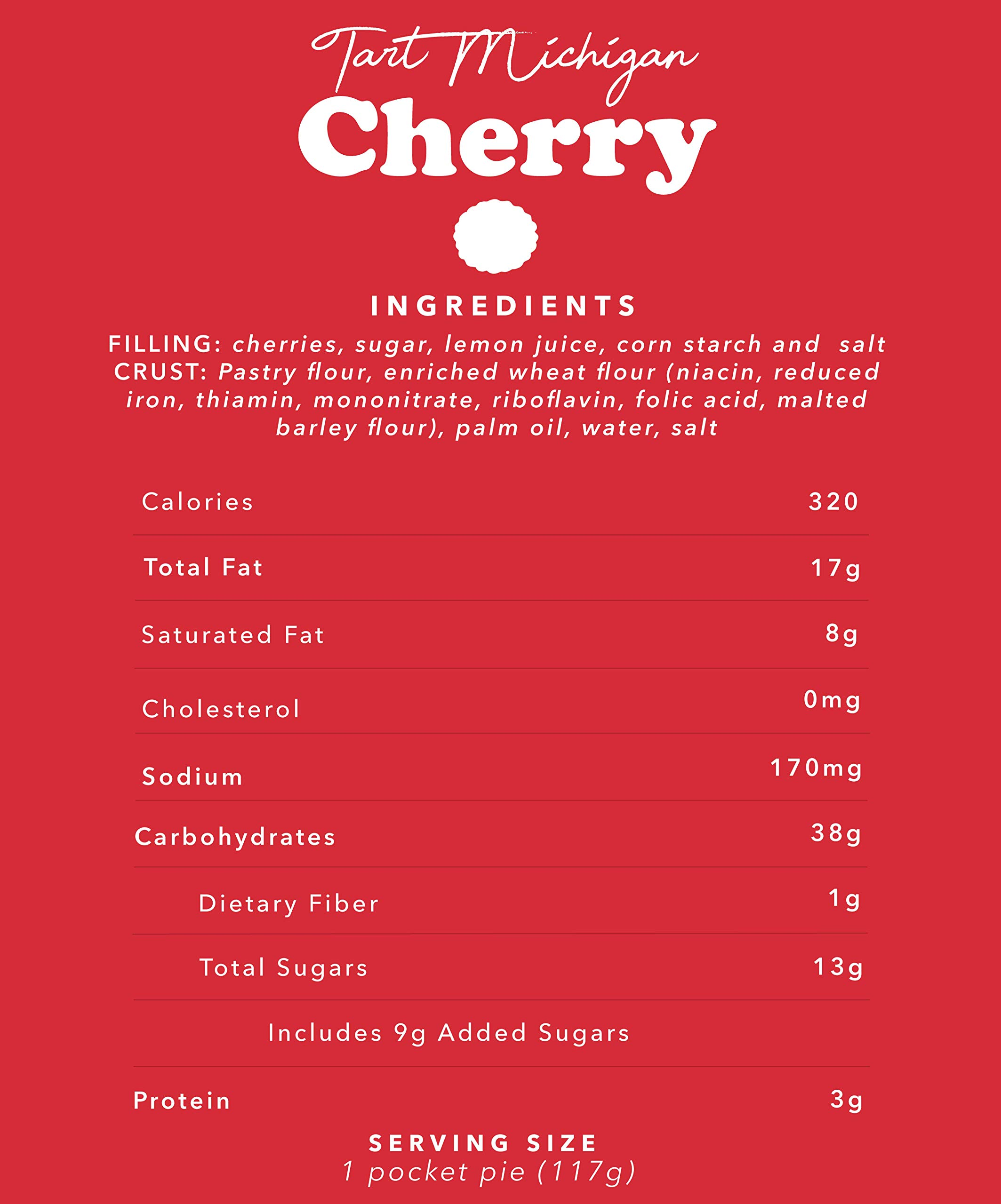 Mamie's 12 Pack Melt-in-Your-Mouth Single Serving Cherry Pies, Individually Packaged 4.5oz Pocket Pies, Preservative Free, Shipped Frozen and Ready to Bake, Made in USA. by Mamie's Pies (Image #6)