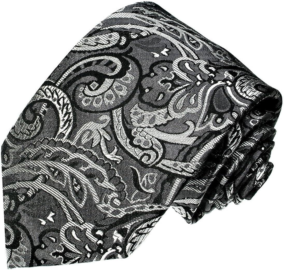 LORENZO CANA - Corbata - Paisley - para hombre Plateado gris