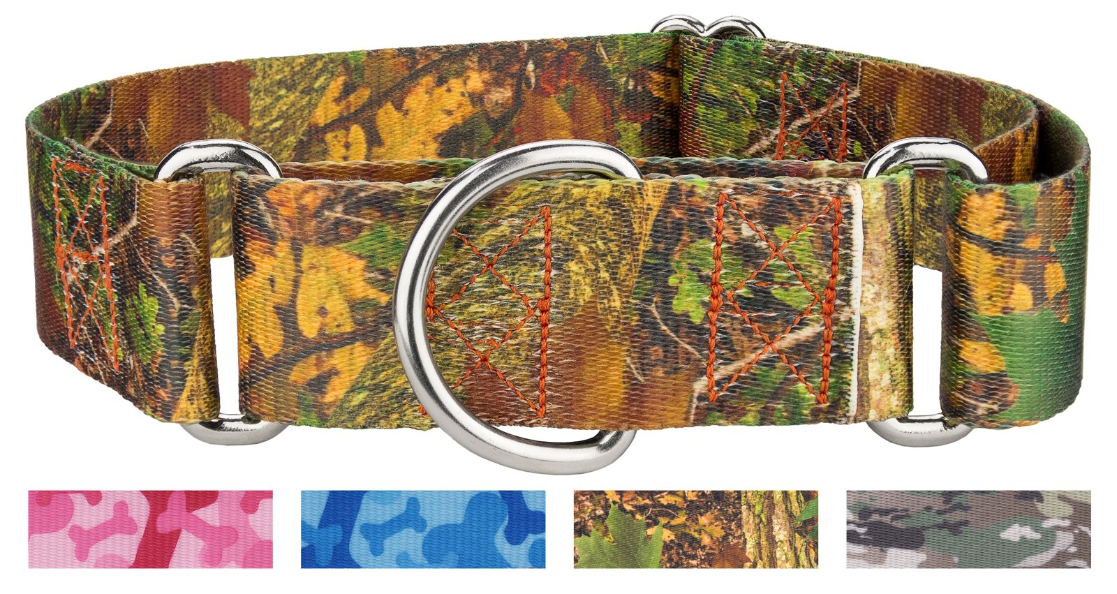 Country Brook Design1 1/2 Inch Southern Forest Camo Martingale Dog Collar - Extra Large