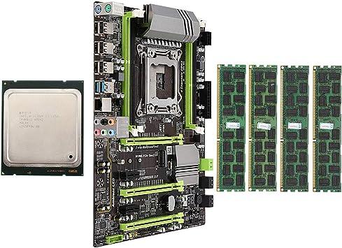 Semoic Placa Base X79 LGA2011 Combo con CPU E5 2650 4-Ch ...